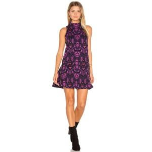 FREE PEOPLE Purple Amelia Zip Up Large Dress